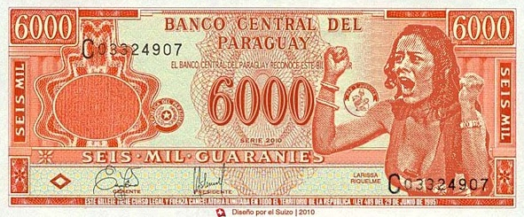 billete 6000 guaranies