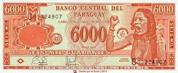 billete 6000 guaranies