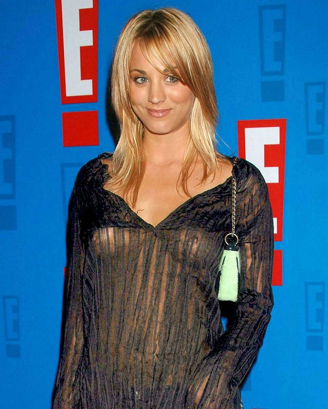 Kaley Cuoco see through