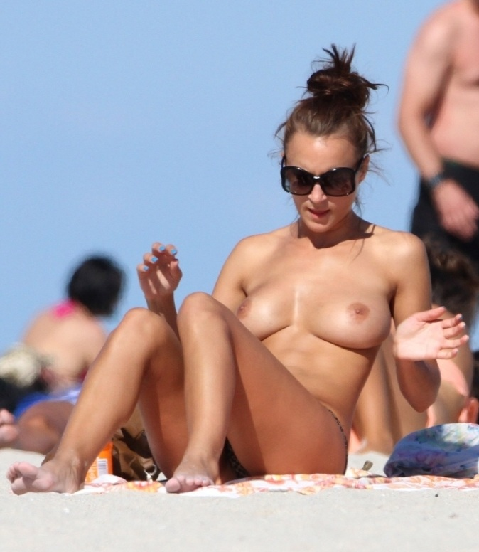 Rosie Jones beach topless