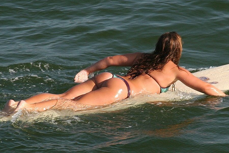 surfing thong