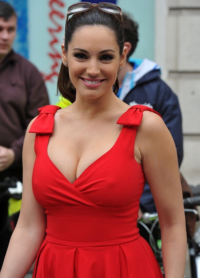 Kelly Brook bicycle