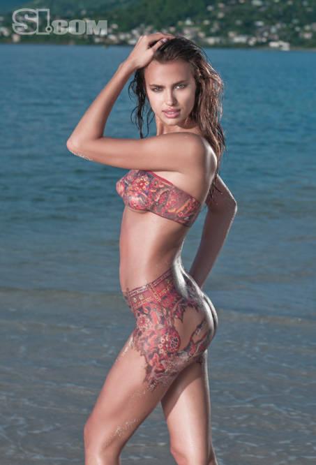 ... Irina Shayk Body Cachedfeb Sports Illustrated Body Paint Issue 2013