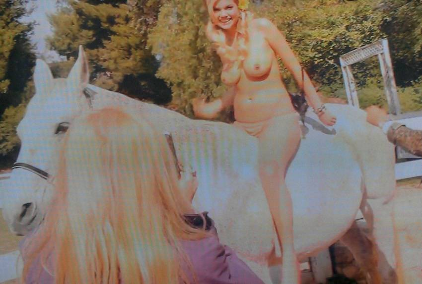 Kate Upton - Topless on a Horse 01