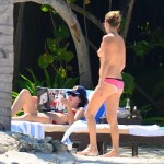 Kate Moss is seen on holiday