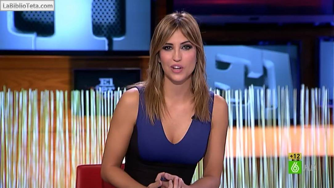 Sandra Sabatés Preciosa Y Escotada Presentando El Intermedio El