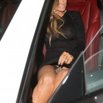 Carmen Electra Wears Revealing Outfit While Out To Dinner With Travis Barker