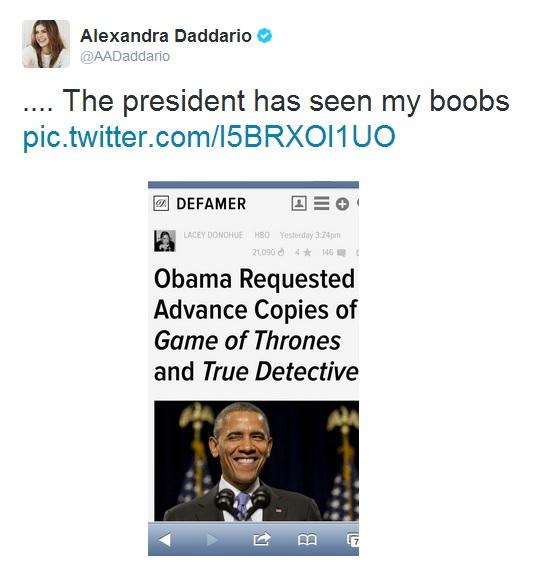 Alexandra Daddario - Obama