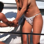 Claudia Schiffer - yacht topless 03