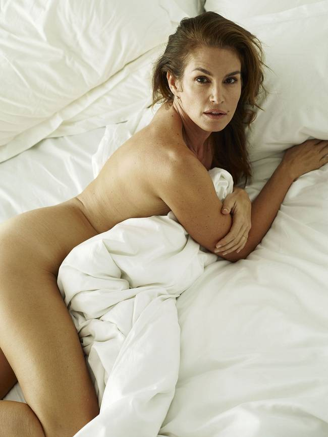 Nude cindy crawford w magazine