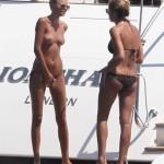 Toni Garrn - topless Ibiza 02