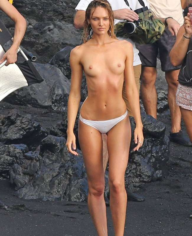 Candice Swanepoel - topless Hawaii 01
