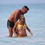 *Warning contains nudity* Laura Cremaschi topless at the beach in Miami