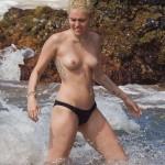 MIley Cyrus - topless Hawaii 04