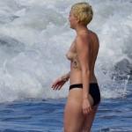 MIley Cyrus - topless Hawaii 13