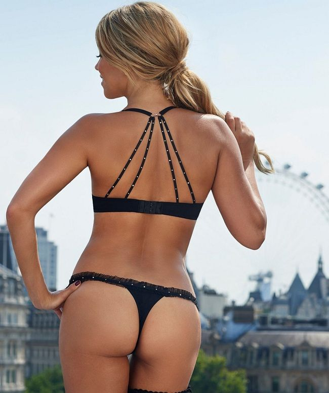 Sylvie Van der Vaart - thong London 01