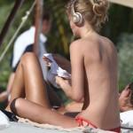 Toni Garrn topless Mexico 03