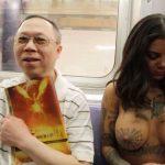 Bonnie Rotten - New York topless 16
