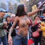 Bonnie Rotten - New York topless 22