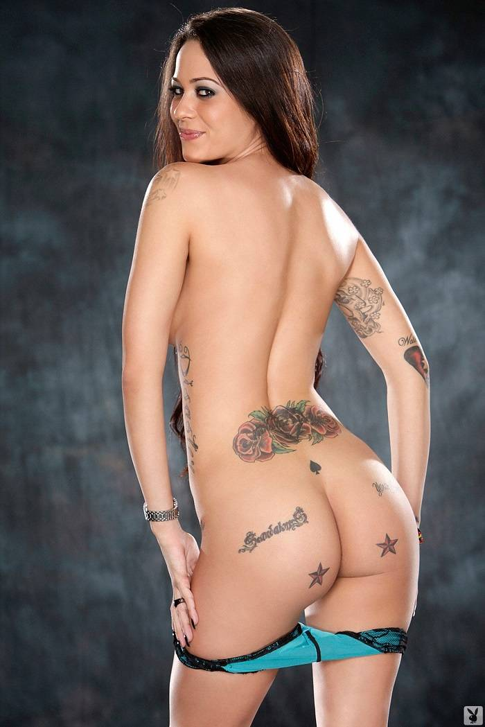 sexy female with tattoos naked